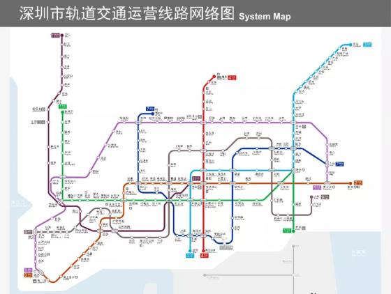深圳宣布2020再开通7条地铁:2、3、4、6、8、10号线
